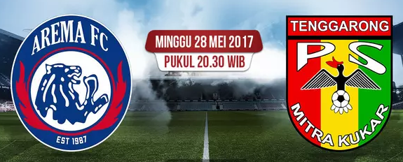 Biss Key TV One Arema vs Mitra Kukar – 28 Mei 2017